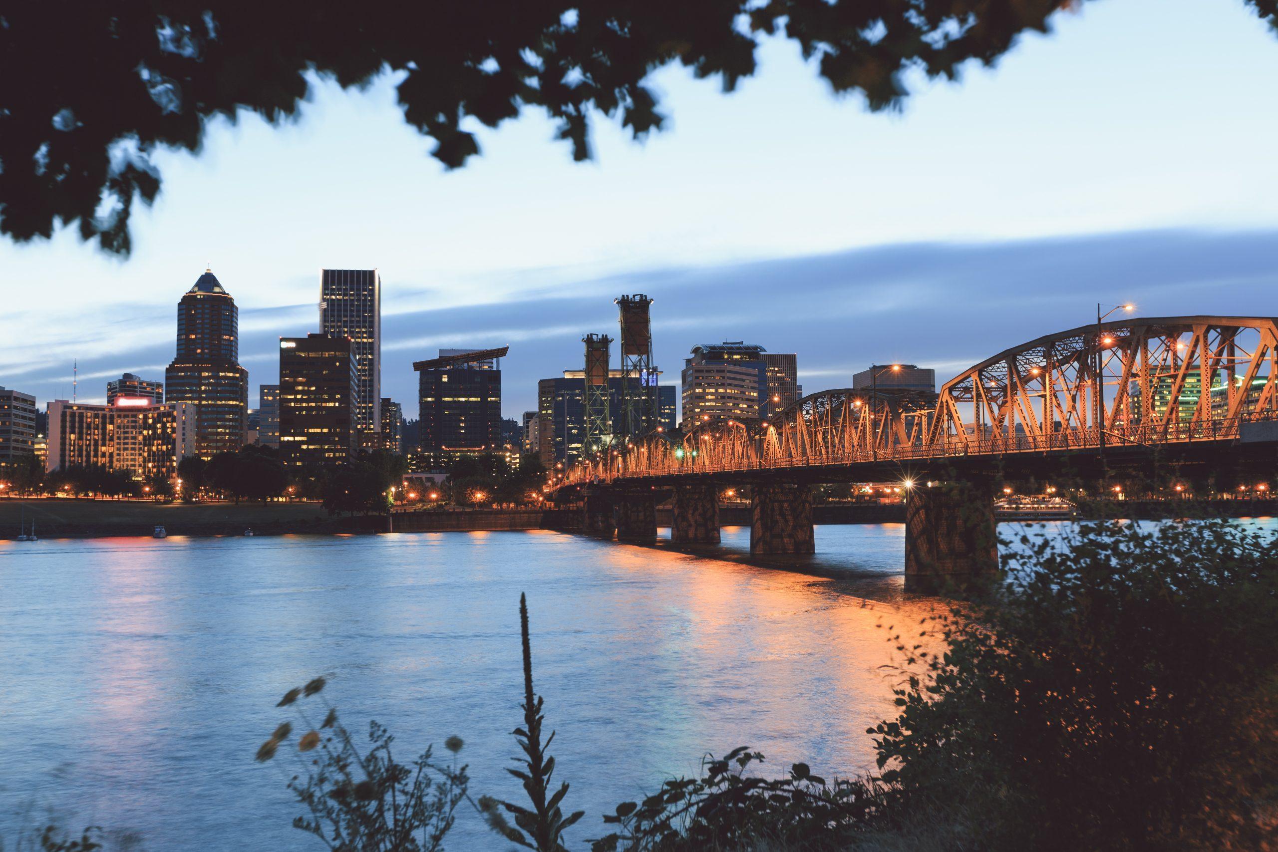 Portland during sunset